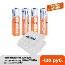 4Pcs PKCELL AAA 900mWh 배터리 1.6V Ni Zn AAA 충전식 배터리 aaa 및 1pcs AA/AAA 배터리 박스 케이스 손전등 완구