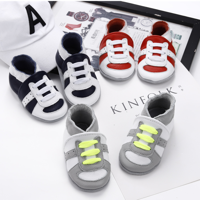 [simfamily]Newborn Boys Girls Soft Genuine Leather Antislip Baby Shoes First Walkers Baby Moccasins 0-24Months