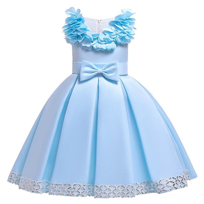 H14f0ef7ad8434414b5d5c298a5b3308e8 Kids Dresses For Girls Elegant Princess Dress Christmas Children Evening Party Dress Flower Girl Wedding Gown vestido infantil