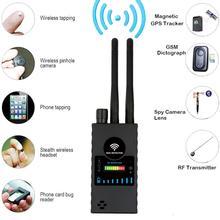 Anti-Spy Wireless RF Signal Detector, GPS RF Radio Scanner GSM Finder Device Audio Bug Detector new g319 anti spy gps signal lens gps gsm wifi g3 g4 sms rf tracker gsm spy bug detector anti candid camera detector