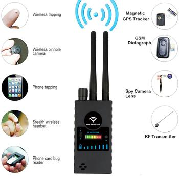 Anti-Spy Wireless RF Signal Detector, GPS RF Radio Scanner GSM Finder Device Audio Bug Detector new rf signal bug detector laser lens gsm device finder home security safety