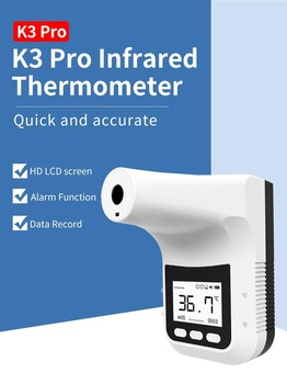 Wall-Mounted Non-Contact Infrared Thermometer Digital Forehead Temperature Measurement with Fever Alarm Accurate K3-PRO недорого