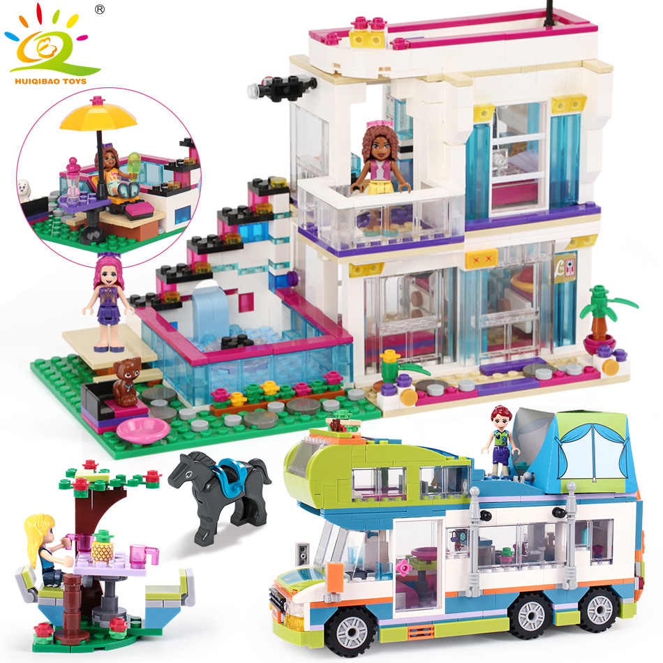 Girl Livi's House Camper Building Block Compatible legoingly Friend For Girls City Bricks set Educational Toys for children
