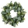 Искусственная гирлянда из искусственных листьев, зеленая круглая креативная подвеска, свадебное украшение, аксессуары для дома