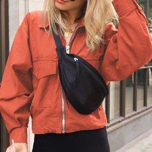 Autumn Spring Women Korean Long Sleeve Hooded Jacket and Coat Elegant Windbreaker 2019 Fashion Harujuku 2xl Chic Outwear Black