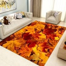 Maple Leaves Design Area Antislip Rug Soft Crystal Velvet Washable Non-Slip Decor Floor Mat For Living Room Bedroom Playing Room