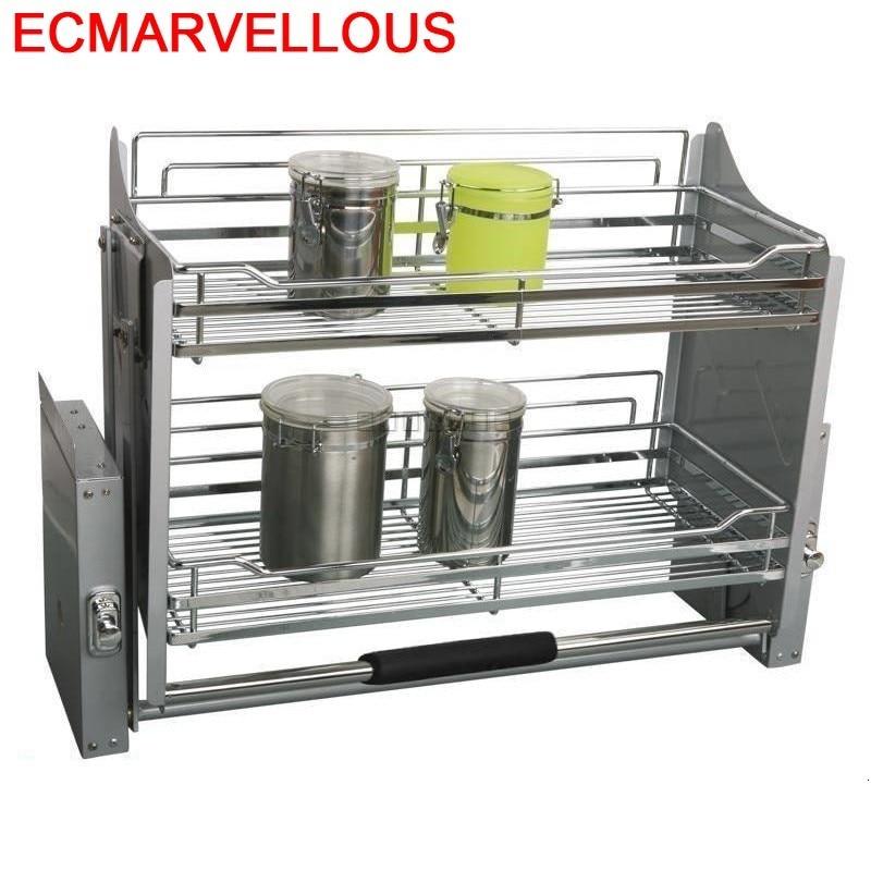 Pantries Accesorios Organizar Para Armario Stainless Steel Hanging Cozinha Cuisine Organizer Kitchen Cabinet Storage Basket
