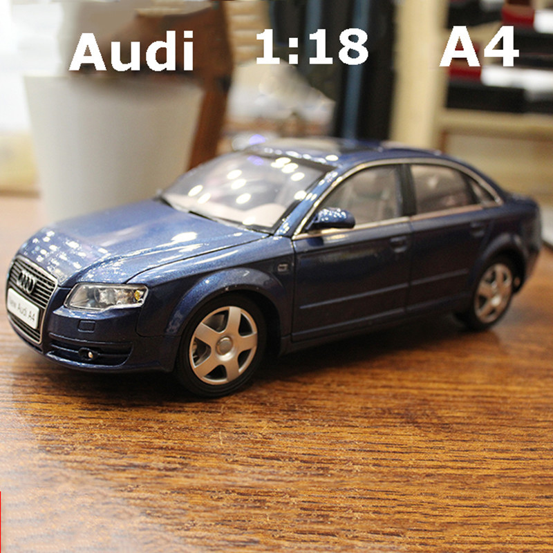 1:18 Audi A4  Scale Toy Car Audi Models 4 Openable Doors Metal Model For Collection Toys For Kids