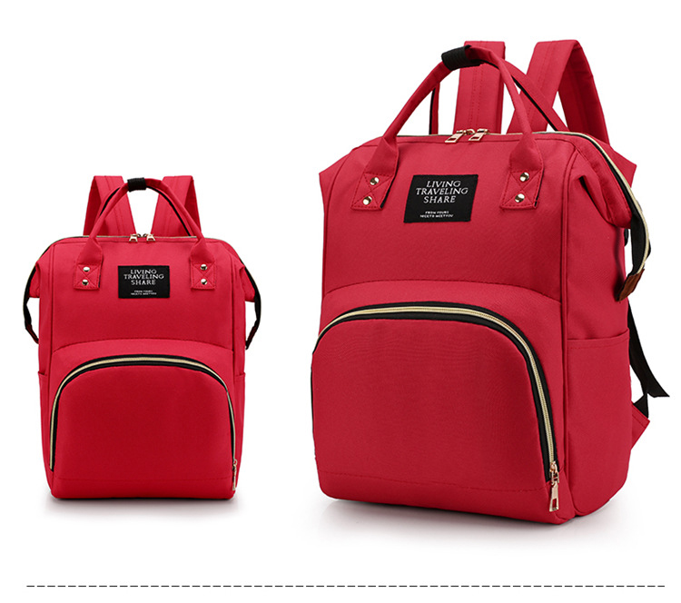 Mummy Diaper Bag Backpack Zipper Large Capacity Multifunction Waterproof Travel Backpack Mummy Nursing Bag Backpack Baby Care
