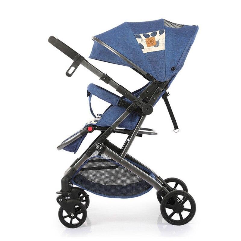 7KG Adjustable Luxury Two Way Baby Stroller Portable High Landscape Reversible Pink Stroller Hot Mom Stroller Travel Pram