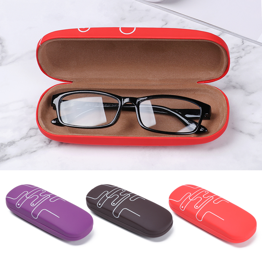 1PC New Fashion PU Leather Eye Glasses Hard Shell Protector Men Women Kids Reading Eyewear Case Portable Sunglasses Box Case