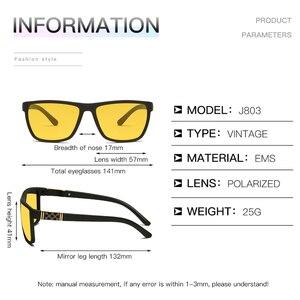 Image 5 - Longحارس جديد الرجال ليلة القيادة النظارات الشمسية الاستقطاب للرؤية الليلية نظارات الذكور الكلاسيكية العلامة التجارية مصمم عدسات صفراء اللون نظارات UV400