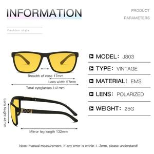 Image 5 - LongKeeper Night Vision Goggles Mens Driving Glass Polarized Sunglasses TR90 Square Anti Glare Yellow Lens Male Sport Gafas