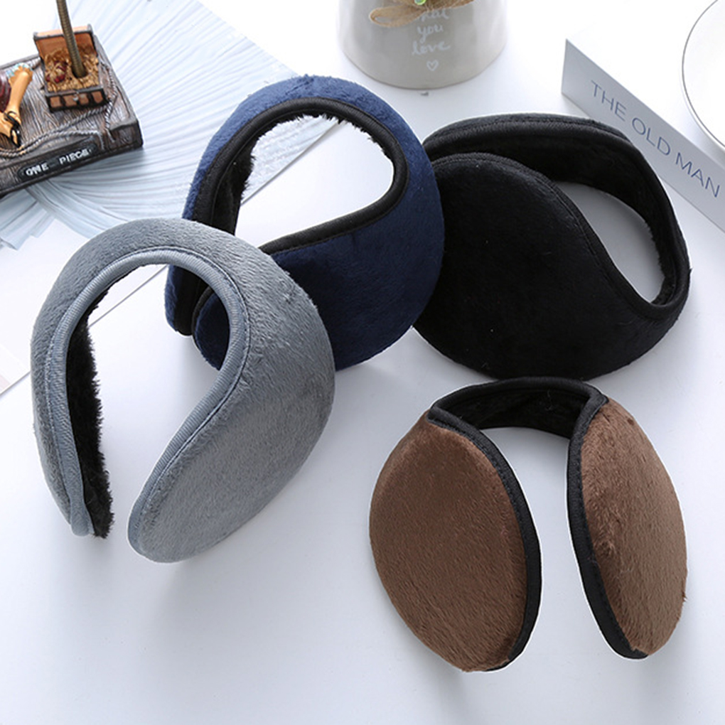 Women Men Soft Ear Cover Protector Unisex Solid Winter Earmuffs Thicken Plush Warm Earmuff Warmer Gift