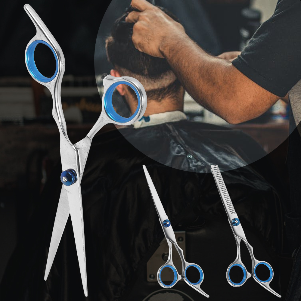 6 Inch 4cr Hair Scissors Cut Hair Cutting Styling Tool Hair Scissors Salon Hairdressing Shears Regular Flat Teeth Blades
