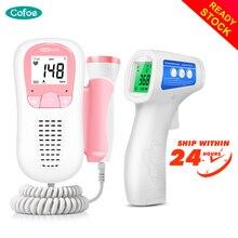 Cofoe Foetale Doppler Ultrasound Baby Hartslag Detector & Non Contact Digitale Infrarood Thermometer Geschikt Voor De Hele Familie
