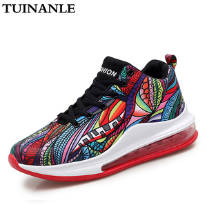 TUINANLE Women Platform Sneakers Breathable 2020 Fashion Casual Lover Graffiti Totem Ankle Boots Outdoor Shoes Tenis Feminino