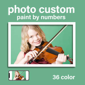 RUOPOTY Photo Photo-Custom-Picture Canvas Diy Personalised By Numbers Children Portrait