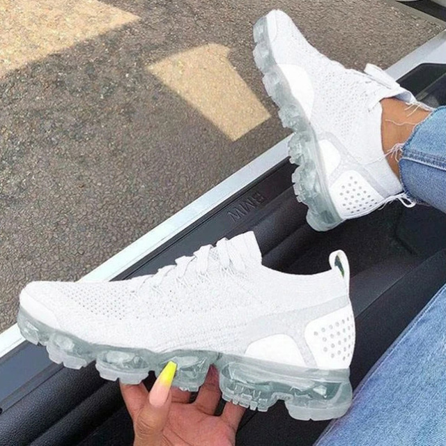2021 New Spring Women Running Shoes Breathable Couples Sock Sport Sneakers Women Lace Up Walking Shoes Outdoor Footwear WSH3793