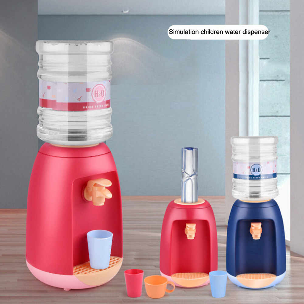 Delicate DIY Mini Simulation Water Dispenser Set Toy Kitchen Appliances  Pretend Play for Kids Birthday Party Best Gift игрушки