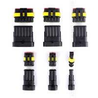 TSLEEN 1/2/3/4/5/6 Pin hembra macho Way Super Seal IP68 Cable impermeable automotriz eléctrico 5/10 Sets conector de Cable Auto Plug