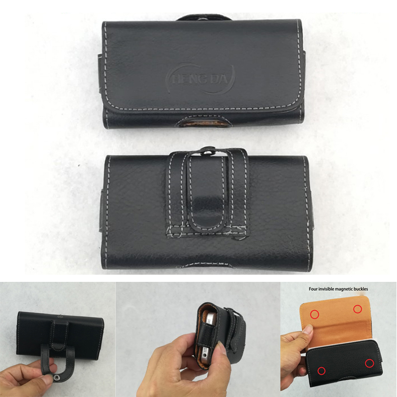 Portable Universal 2.6-6.5 inch Mobile Phone <font><b>Belt</b></font> Pouch Bag Magnetic Cover for <font><b>iPhone</b></font> 4 5 6 7 8 Plus XR <font><b>XS</b></font> MAX 11 Pro Max Buckle image