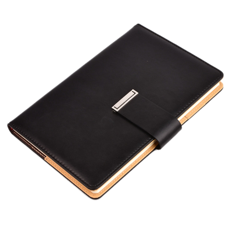 Vintage Thick Leather Notebook Buckle Notepad Planner For Office