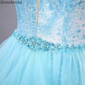Image 5 - Erosebridal שמיים כחולים שמלה לנשף 2020 חדש אופנה שכבות שמלת ארוך פורמליות שמלת ערב שמלת מסיבת פתוח חזור V צוואר
