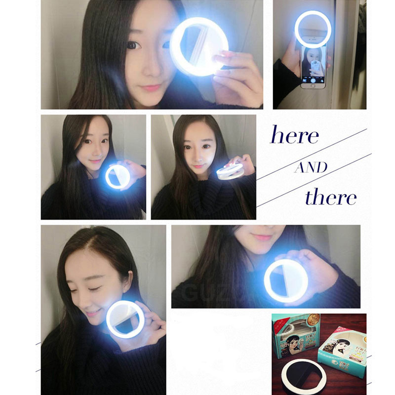 cheapest Flexible Phone Selfie Light Portable Enhancing LED Fill Light Clip-On Ring Selfie Light With Mirror High Diffusion Anti-Scratch