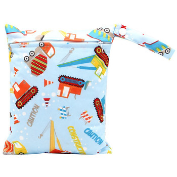 20*25cm Mini Diaper Wet Bag Single Pocket Zipper Baby Bags For Mom Maternity Travel Stroller Bag PUL Nappy Diaper Bag Wetbag - AS-MB-19