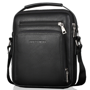 Pu Leather Messenger Bag Men H