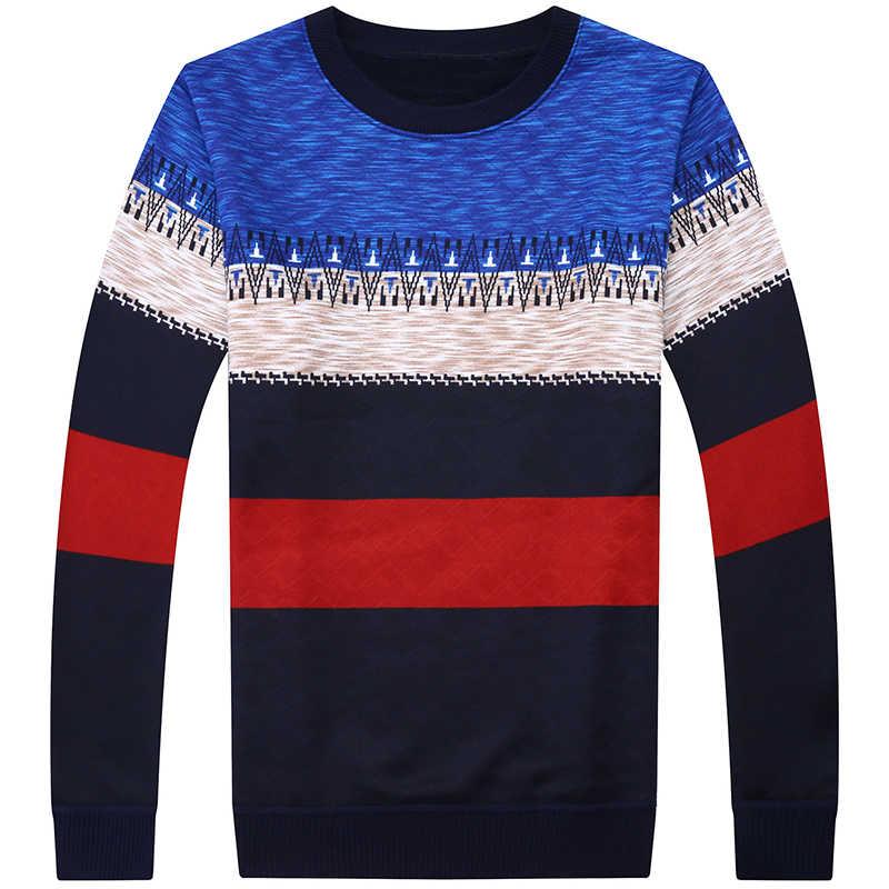 2019 marka rahat sonbahar kış sıcak kazak örme çizgili erkek kazak erkekler erkek kalın erkek kazak jersey giyim 41200