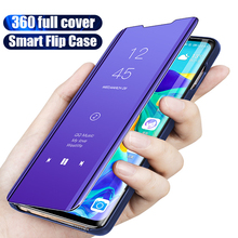 Smart Mirror Flip Protective Case for Huawei Y7 Y9 Prime Y6 Pro 2019 Case for Huawei Y5 Y6 Y7 Prime 2018 P Smart Plus Z Cover 9d glass for huawei y7 y9 2018 protective glass for huawei y9 2019 y9 prime y7 prime 2019 jkm lx1 p smart z screen cover film