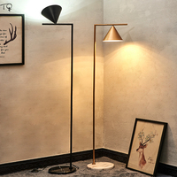 Nordic Ins Italian Design Individual Led Floor Lamp Modern Metal Marble Standing Lamp Living Room Study Bedroom Bediside Studio