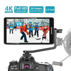 Neewer FW568 5.5-Inch Camera Field Monitor with 4K HDMI 8.4V DC Input Output Video Peaking Focus Assist with Swivel Arm