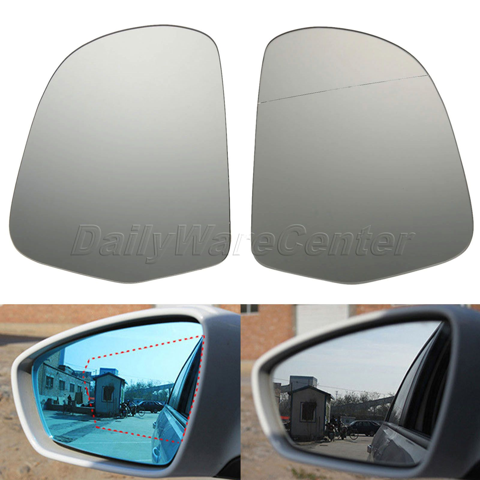 New Passenger Side Rearview Mirror Glass Heated for Audi A3 A4 A5 A6 Q3 Skoda