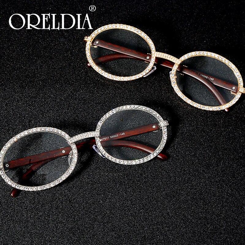 Vintage Round Cubic Zircon Sunglasses Men New Luxury Women Oval Diamond Glasses Fashion Hip Hop Eyewear UV400 Gafas De Sol Mujer