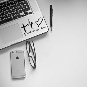 New Design Faith hope love Waterproof Black Laptop Cover Skin Sticker Pegatina Portatil laptop Touchpad Skin decoration