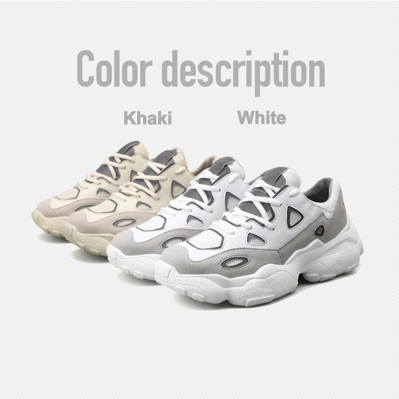 Men 39 s Casual Shoes Women 39 s Clunky Sneakers PU Leather Reflective Breathable Chunky Platforms Men Women Dad Shoes in Men 39 s Casual Shoes from Shoes