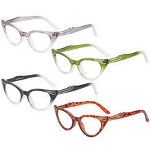 Moda banhado a ouro diamante olho de gato óculos de leitura masculino e feminino unissex presbiopia óculos diopter 0 + 1.0 1.5 2.0 2.5 para + 4.0