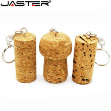 JASTER Wood cork pamięć USB zalesiona wtyczka pendrive 8GB 16GB 32GB karta pamięci 64GB logo dostosowane z pęku kluczy prezent ślubny