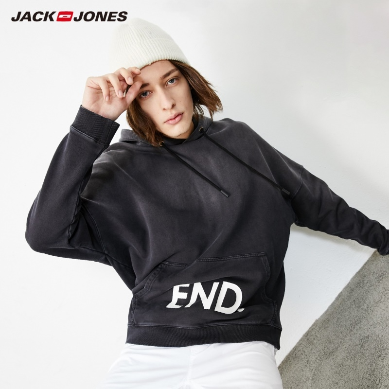 JackJones Men's Fashion Loose Fit Gradient Hoodie Menswear Sports Style Male Hoodie| 219133537