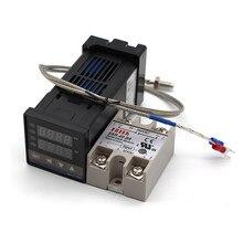 Contrôleur de température numérique PID, thermostat REX C100 + 40DA SSR + K, sonde de 1m