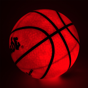 2020 Night Light Basketball High Brightness LED Growing Rubber Basketball For Training Freestyle Performances Good Gifts Newer(China)