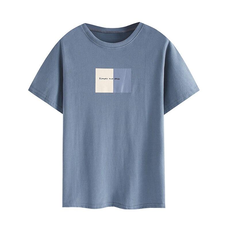 2020 Summer Women's New Harajuku Cotton Printed Short-sleeved Shirt Fashion Korean T-shirt Women