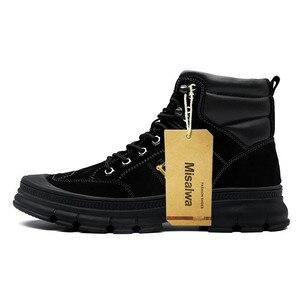 Image 3 - Misalwa moda ao ar livre inverno exército botas militares do deserto dos homens botas de pelúcia respirável trabalho safty tênis plus size 38 46