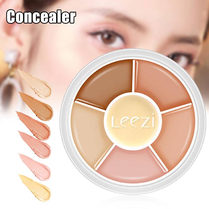 NEW 6-color Concealer Palette Conceal Dark Circles Acne Spots Long Lasting Non-Marking Makeup image