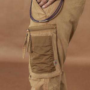 Image 3 - Мужские брюки карго SIMWOOD, тактические брюки с множеством карманов, уличные штаны плюс сайз в стиле хип хоп с накладками контрастного цвета, 2019