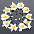 10pc Edelstahl 10 Stil Spiegelei Pfannkuchen Former Omelett Form Form Braten Ei Kochen Werkzeuge Küche Zubehör Gadget-in Ei & Pfannkuchen Ringe aus Heim und Garten bei