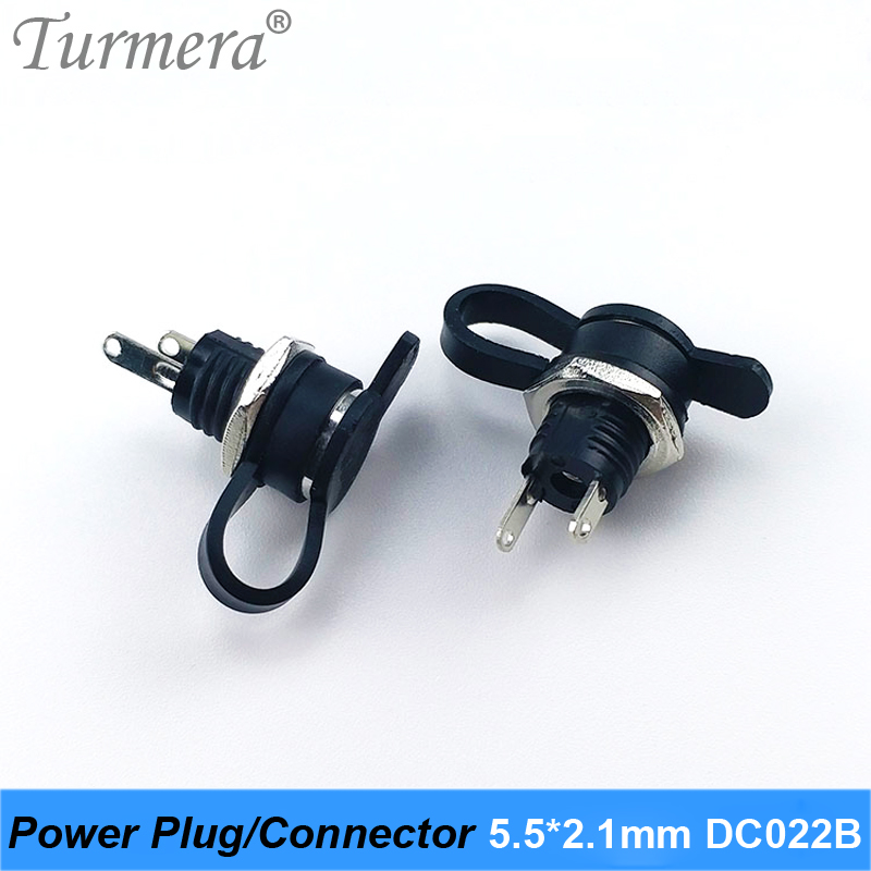 DC Power Plug Connector For Diy Dc Waterproof Jack Connector DC022B 5.5 X 2.1 Mm 5pieces/lot Turmera NEW                     AU8